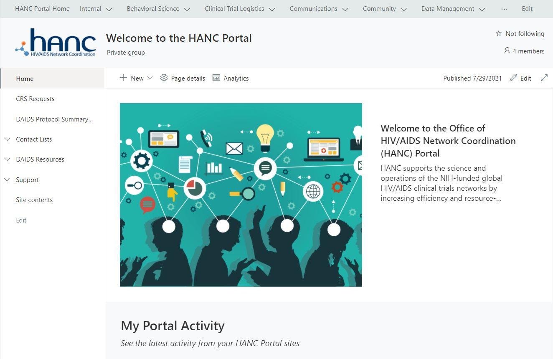 HANC Portal Homepage